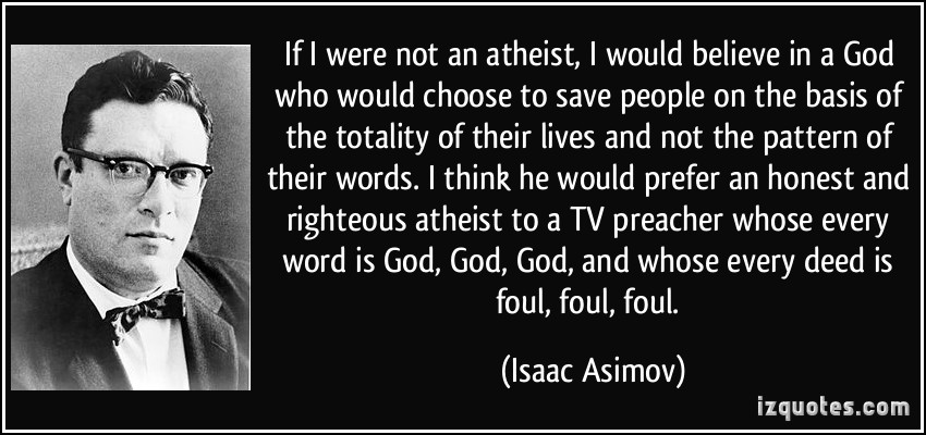 if I were not an atheist